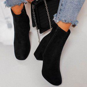 NEW🔥 Classic Block Heel Ankle Booties Boot w/ Zip